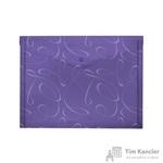 Папка-конверт Комус Модерн на кнопке А4 фиолетовая 0.18 мм