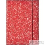 Папка на резинках Attache картонная красная (370 г/кв.м, до 200 листов)