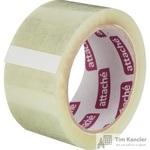 Клейкая лента упаковочная Attache прозрачная 50 мм x 66 м толщина 50 мкм (морозостойкая)