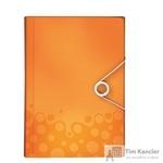 Папка-органайзер Leitz Wow A4 оранжевая (6 отделений)
