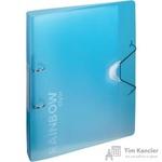 Папка на 2-х кольцах Attache Rainbow Style пластиковая 35 мм голубая