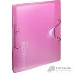 Папка на 2-х кольцах Attache Rainbow Style пластиковая 35 мм розовая