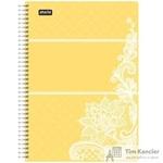 Бизнес-тетрадь Attache Selection Амели А5 80 листов желтая в клетку на спирали (210х152 мм)