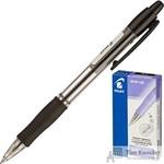 Ручка шариковая масляная автоматическая Pilot BPGP-10R-F черная (толщина линии 0.32 мм)
