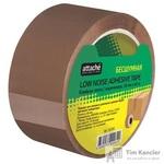 Клейкая лента упаковочная Attache Selection коричневая 50 мм x 66 м толщина 48 мкм (бесшумная)