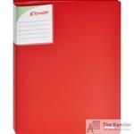Папка файловая на 40 файлов Комус Шелк красная