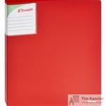 Папка на 2-х кольцах Комус Шелк пластиковая 25 мм красная