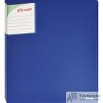 Папка на 2-х кольцах Комус Шелк пластиковая 25 мм синяя
