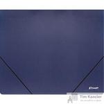 Папка на резинке Комус Шелк А4 пластиковая синяя (0.5 мм, до 150 листов)