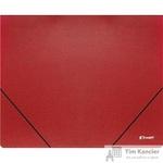 Папка на резинке Комус Шелк А4 пластиковая красная (0.5 мм, до 150 листов)