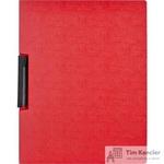 Папка для брошюровки Attache с клипом А4 красная (до 30 листов)