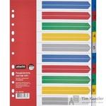 Разделитель листов Attache Selection А4+ пластиковый 10 листов разноцветный (цифровой)
