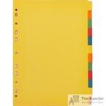 Разделитель листов Attache А4 картонный 12 листов разноцветный (297х210 мм)