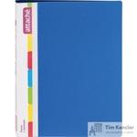 Папка с зажимом Attache А4 0.7 мм синяя (до 150 листов, с карманом для CD и визиток)