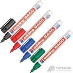 Набор маркеров для CD Edding E-8400/4S 4 цвета перманентные (толщина линии письма 0.75 мм)