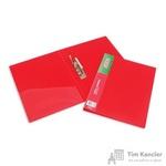 Папка с зажимом Attache А4 0.7 мм красная (до 150 листов, с карманом для CD и визиток)