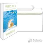 Конверт почтовый Nautilus Bong Е65 (110x220 мм) экологичный белый удаляемая лента (25 штук в упаковке)