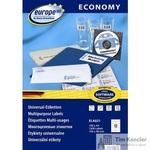 Этикетки самоклеящиеся Europe 100 белые 105х48 мм (12 штук на листе А4, 100 листов, артикул производителя ELA021)