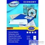 Этикетки самоклеящиеся Europe 100 белые 210х148 мм (2 штуки на листе А4, 100 листов, артикул производителя ELA026)