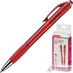 Ручка шариковая автоматическая Attache Happy синяя (красный корпус, толщина линии 0.5 мм)