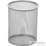 Подставка для письменных принадлежностей диаметр 115 мм высота 140 мм металлическая сетка серебристая