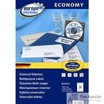 Этикетки самоклеящиеся Europe 100 белые 70х42.3 мм (21 штука на листе А4, 100 листов, артикул производителя ELA013)