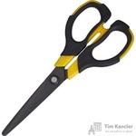 Ножницы Attache Selection Krait Non Stick 170 мм с пластиковыми прорезиненными симметричными ручками желтого/черного цвета