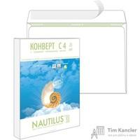 Конверт почтовый Nautilus C4 (229x324 мм) экологичный белый удаляемая лента (25 штук в упаковке)