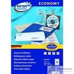 Этикетки самоклеящиеся Europe 100 белые 48.5х25.4 мм (40 штук на листе А4, 100 листов, артикул производителя ELA002)