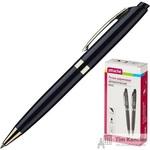 Ручка шариковая автоматическая Attache Boss черная (толщина линии 0.5 мм)