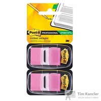 Клейкие закладки Post-it пластиковые розовые 2 диспенсера по 50 листов 25.4x43.2 мм