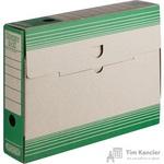 Короб архивный Attache картон зеленый 256х75х322мм