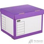 Короб архивный Attache гофрокартон фиолетовый 414x345x299мм