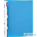 Папка-скоросшиватель с пружинным механизмом Attache Diagonal А4 синяя 0.6 мм