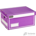 Короб архивный Attache гофрокартон фиолетовый 320х240х160мм