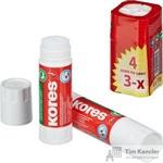 Клей-карандаш Kores 15 г (4 штуки в упаковке)