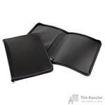 Папка-конверт Attache на молнии А4 пластиковая черная 0.5 мм