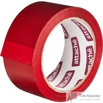 Клейкая лента упаковочная Attache красная 48 мм x 66 м толщина 45 мкм