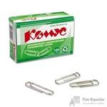Скрепки Комус металлические никелированные 28 мм (100 штук в упаковке)