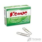 Скрепки Комус металлические никелированные 33 мм (100 штук в упаковке)