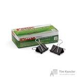 Зажимы для бумаг Комус 32 мм черные (12 штук в упаковке)
