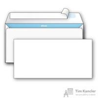 Конверт почтовый Комус E65 (110x220 мм) белый удаляемая лента (1000 штук в упаковке)