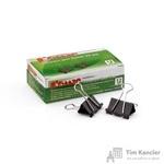 Зажимы для бумаг Комус 25 мм черные (12 штук в упаковке)