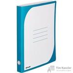 Папка-скоросшиватель Комус картонная А4 до 300 листов голубая (450 г/кв.м)