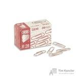 Скрепки ICO металлические омедненные 28 мм (100 штук в упаковке)