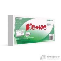 Конверт почтовый Комус E65 (110x220 мм) белый с клеем (100 штук в упаковке)