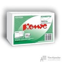 Конверт почтовый Комус С6 (114x162 мм) белый удаляемая лента (100 штук в упаковке)