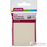Стикеры Attache 76x51 мм пастельные желтые (1 блок, 100 листов)