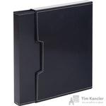 Папка файловая в пластиковом боксе на 80 файлов черная
