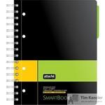 Бизнес-тетрадь Attache Selection Smartbook А5 120 листов желтая/зеленая в линейку 1 разделитель на спирали (181х212 мм)